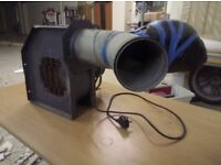 Industrial fan blower for inflatables