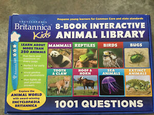 8 Book Interactive Animal Library