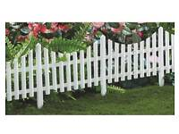 Pretty white picket fence
