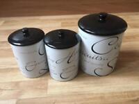 Kitchen storage pots from Range