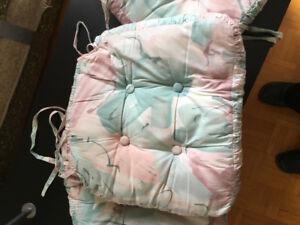4 custom chair cushions