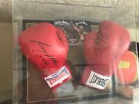 Signed Ricky Hatton and David Haye gloves