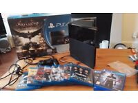 PS4 500Gb Jet Black with Movies and Games £190