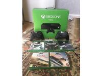 HUGE XBOX ONE BUNDLE 1 TB 6 GAMES 2 CONTROLLER IMMACULATELY