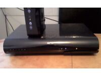 sky hd 2tb wifi box + sky fibre hub with sky box remote