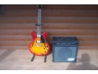 electric guitar and amp also disco equipment