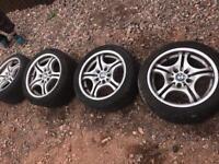 Bmw alloy wheels 17's