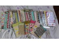 Alphabet and number sticker massive bundle