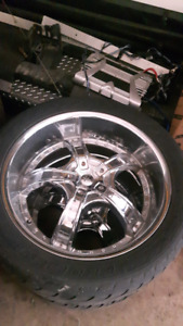 """22"""" deep dish rims universal for chev gmc or ford"""
