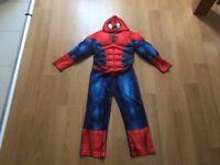 Boys Marvel Spiderman Costume with Head Mask