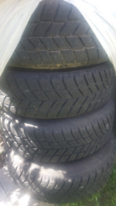 Snow tire and steel rims