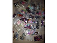 35x mixed bags of embellishments, buttons, charms.... £3 for them all