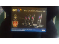 BT 8600 Premium Nuisance Call Blocker QUAD (4 Handsets) BRAND NEW BOXED RRP £84.99