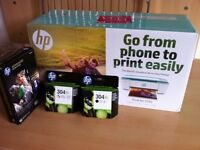 HP desk jet printer and 2 toner cartridges, all new