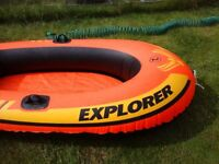 INFLATABLE INTEX EXPLORER 2 BOAT