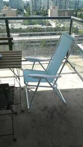 IKEA HAMO Reclining Patio Chair - sky blue, almost new