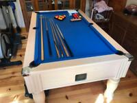 DPT 6 x 3 pool table, slate bed.
