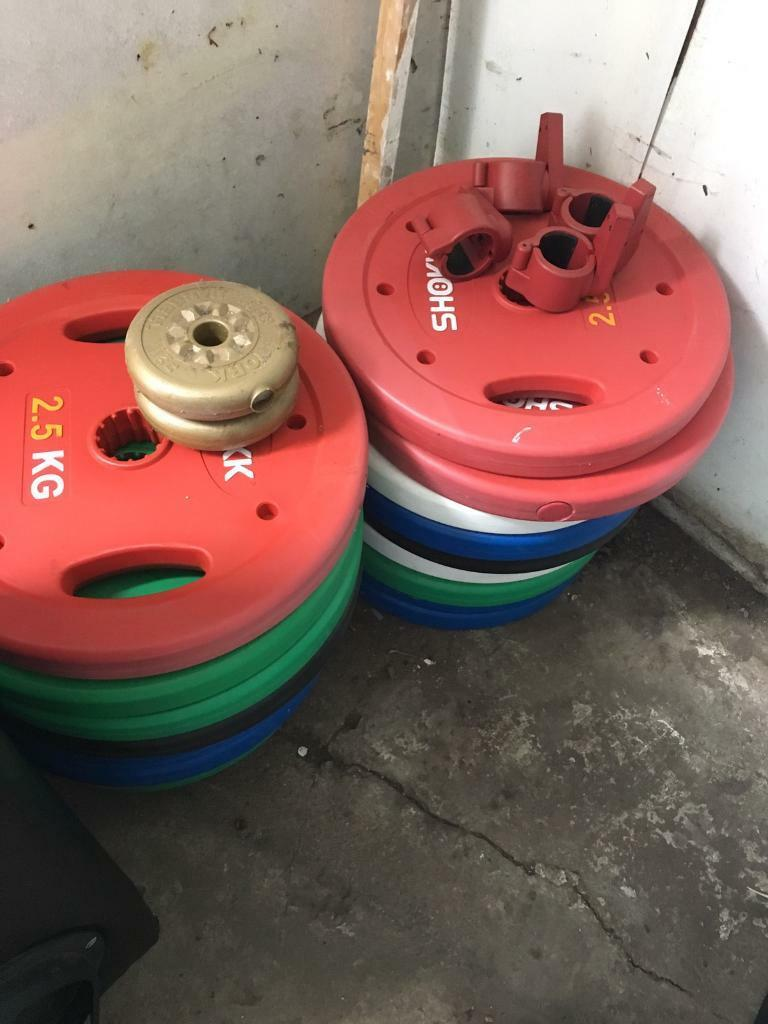 Plastic weight discs