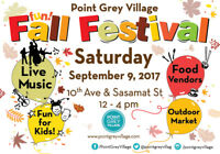 Point Grey Village Fall Festival - Volunteers Needed!