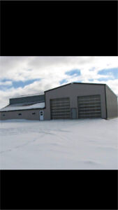 Brand  new Commercial heated shop for lease.