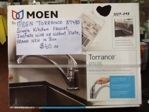 new in box,moen single kitchen faucet