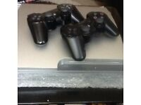 Ps3 with 2xcontrollers 320gb, 10 games accessories