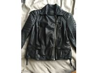 All Saints Ladies Leather Biker Jacket