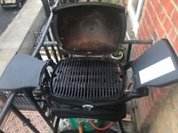 Weber® Q 1200 Gas Barbecue with Stand - Weber Adapter Hose and Regulator for gas bottle