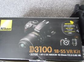 Nikon D3100 Digital SLR Camera with 18-55mm VR Lens Kit BOXED