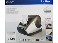 Brother Professional Label Printer QL-570 with 2 DK Rolls - BRAND NEW - £43.99