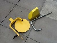Caravan wheel clamp/hitchlock