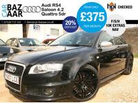 Audi RS4 Saloon 4.2 quattro+F/S/H+10K OF EXTRAS+SATNAV+BUCKET SEATS