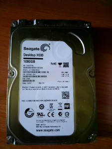 1TB Seagate Barracuda 7200RPM SATA 3 HDD