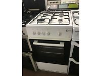 50CM WHITE FLAVEL GAS COOKER