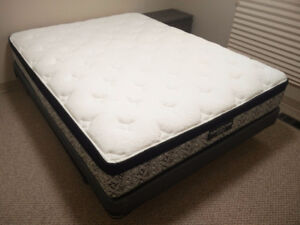 Kingsdown Jenner Queen Mattress & Boxspring Set & Bed Frame