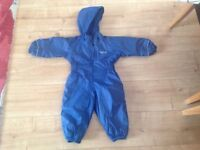 Regatta waterproof all-in-one puddle suit, aged 12-18 months