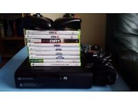 Xbox 360 E 500GB plus 11 games