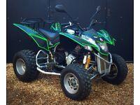 Road Legal Quadzilla 320e CVT *CUSTOM DECALS&TRONS* quad bike