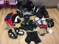 Full ice hockey gear