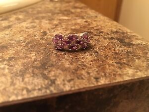 Sterling Silver Multi Row CZ Ring size 6