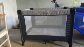 new condition mamas and papas travel cot