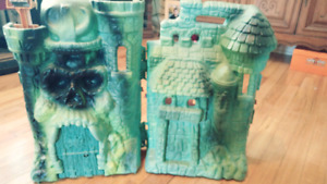 Castle Grayskull with Figures and vechiles