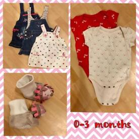 Baby Girl Clothes 0-3 m, 3-6 m, 6-9 months
