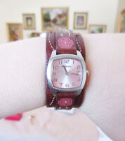 Ladies' FOSSIL Leather Flower Strap Watch w/ Tin Box City of Montréal Greater Montréal Preview