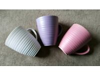 Essence Stoneware Set of 6 Pastel Coloured Mugs/ Cups - Brand New & Boxed