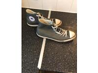 Men's grey leather converse size 9