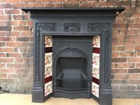 FREE DELIVERY MOST UK Antique Victorian cast iron fireplace 2c