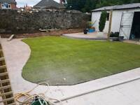 Turf , roll out grass