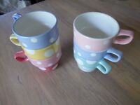 Set of M&S kitsch spotted mugs