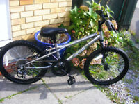 "BOYS 20"" WHEEL BIKE IN GREAT WORKING ORDER HARDLY USED AGE 7+"